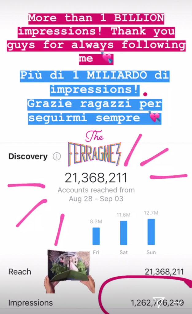 Le impressions del matrimonio - evento tra Chiara Ferragni e Fedez